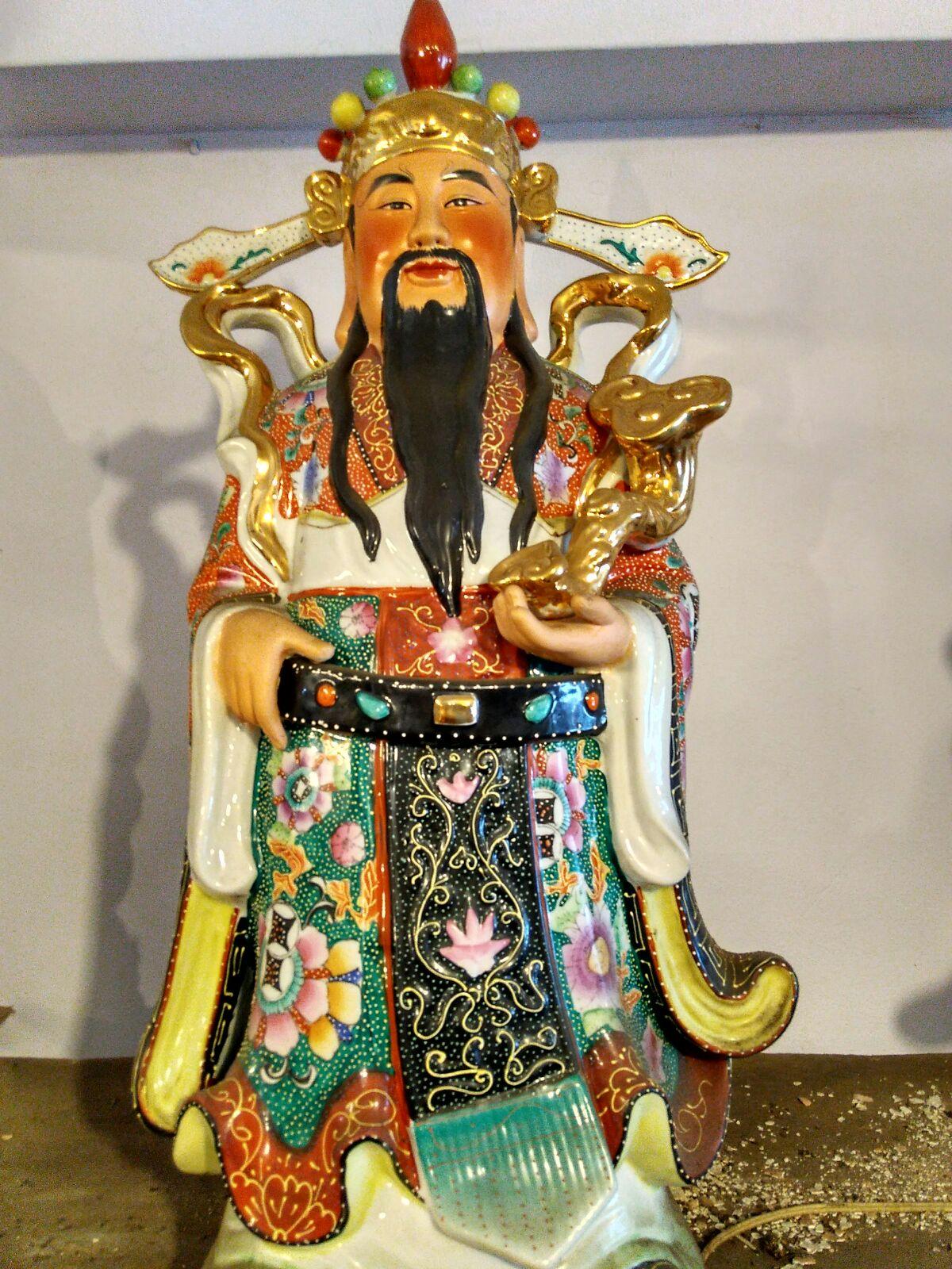 Jual Patung Budha Fu Lu Shou Keramik 23X75cm | dhammamanggala