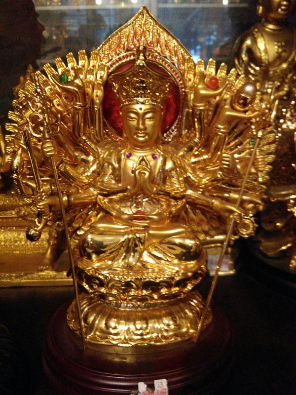 Jual Patung Budha Seribu Tangan Kuningan | dhammamanggala